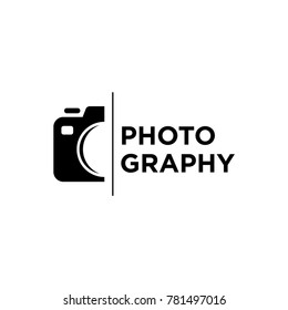 simple camera photography logo icon vector template