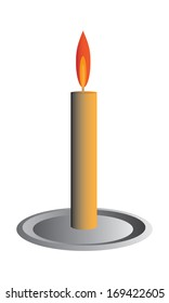 Simple candle vector
