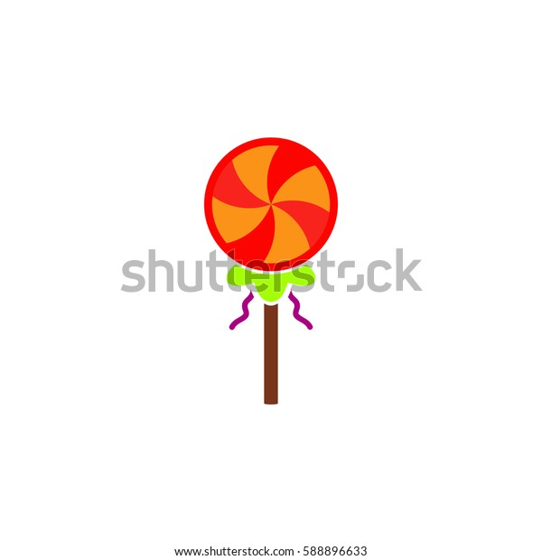 Simple candy. Color symbol icon on white background. Vector illustration