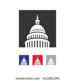 Simple Capitol building vector logo design