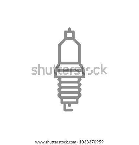Simple Car Candle Spark Plug Line Stock Vector Royalty Free