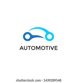 simple car logo vector design template