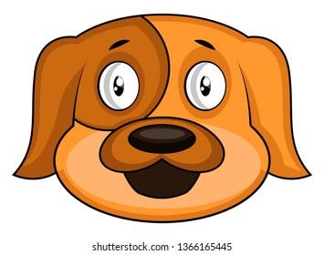 Simple cartoon dog vector illustration on white background