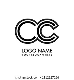 Simple CC initial Logo design template vector illustration