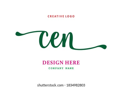 simple CEN lettering logo is easy to understand, simple and authoritative