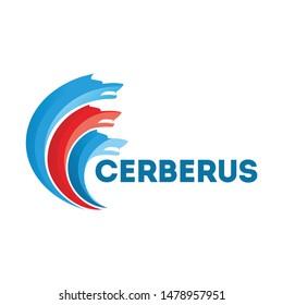 simple cerberus logo design template