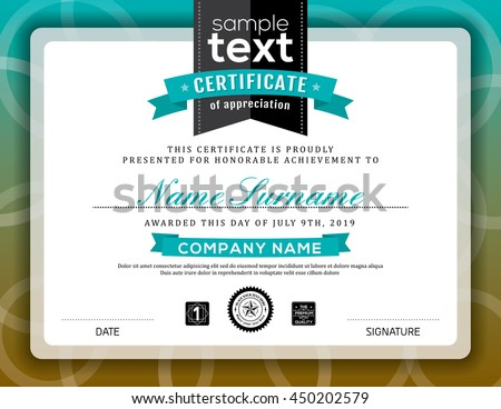 simple certificate of appreciation border background frame design template