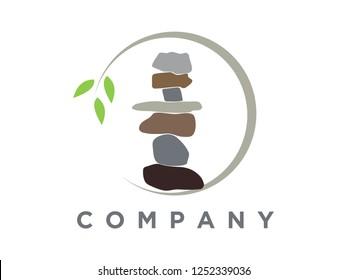 simple and charming illustration rock balancing