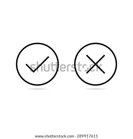 simple check mark icons stock vector royalty free 289917611