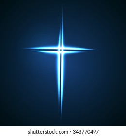 Simple Christian cross sign.