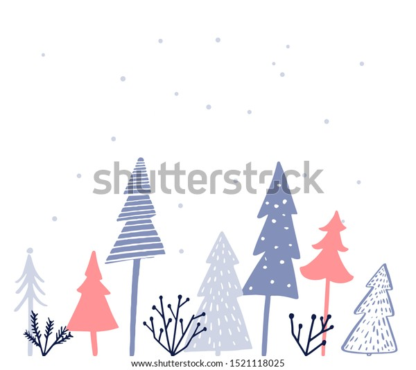 Simple Christmas Card Design Different Style Stock Vector Royalty Free 1521118025