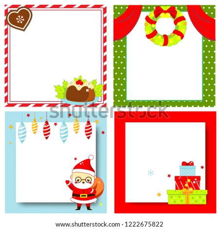 new year blank backgrounds set for invitations advertisements greeting cards