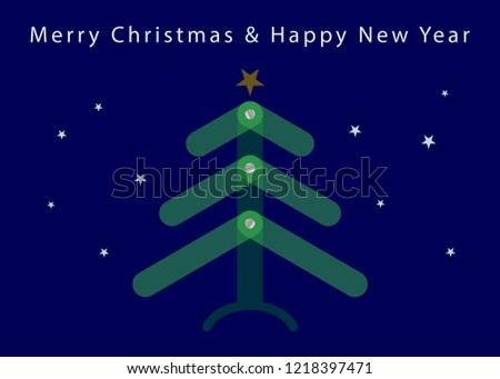 simple christmas and new year card standard usa greeting card 5 x 7 inches