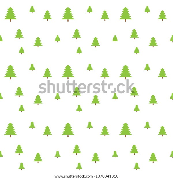Simple Christmas Tree Pattern White Background Stock Vector
