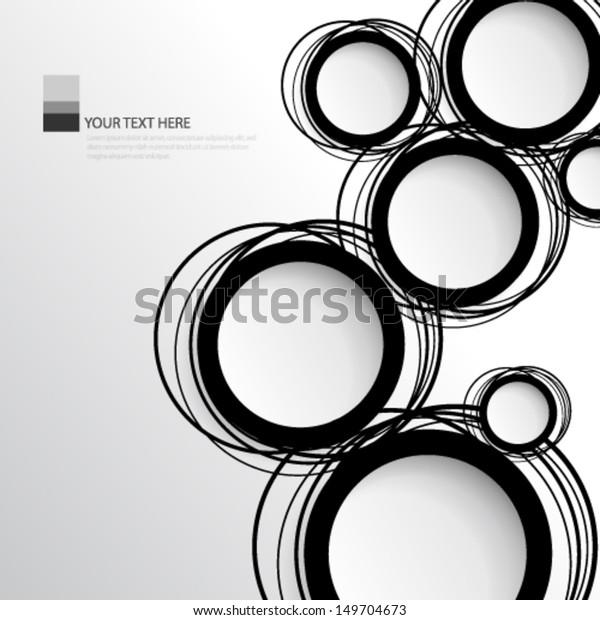 単純な円の背景