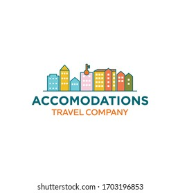 Simple City Accomodation Hotel For Logo Design Travel Industry