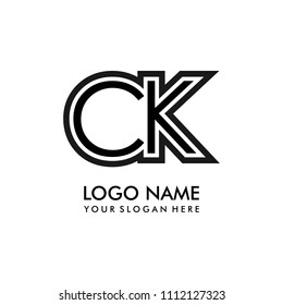 Simple CK initial Logo design template vector illustration