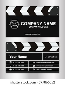 simple clapperboard theme business name card template for movie director