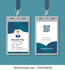 Simple and Clean business corporate ID Card Design Template