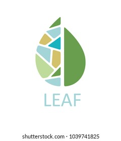 Simple and clean design of leaf sign