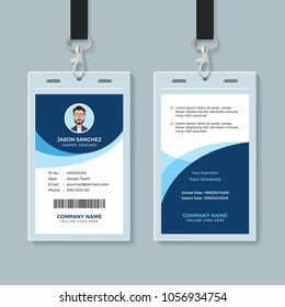 Simple and Clean Employee ID Card Design Template