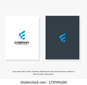 Simple and clean flat design of letter E logo vector template. Business corporate letter E logo design template. Letter E logo for business.