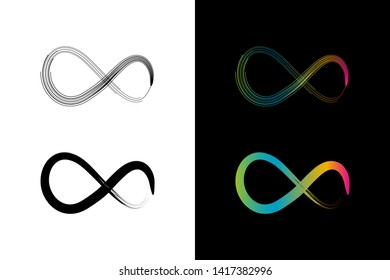 Simple and Clean illustration infinity symbol.