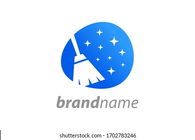 Simple and Clean illustration logo design House Cleaning.