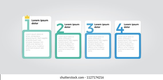 simple clean infographic element design with four number options use for step, workflow, diagram, banner, process, business presentation template, web design, list, timeline.