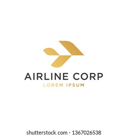 simple, clean and modern airline logo template