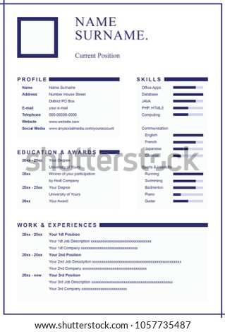 Simple And Clean Professional Look Design Resume Template For Formal Reliable Credible