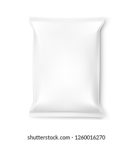 Simple Clear Food Snack Pillow Bag. EPS10 Vector