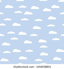 Simple cloud seamless pattern for background. Vector ilustration.