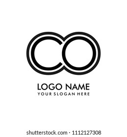 Simple CO initial Logo design template vector illustration