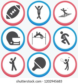Simple collection of action related filled icons  about  signs for infographic, logo, app development and website design.  premium symbols isolated on a stylish background.