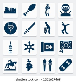 Simple collection of art related filled icons  about  signs for infographic, logo, app development and website design.  premium symbols isolated on a stylish background.
