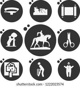 Simple collection of art related filled icons  about paint signs for infographic, logo, app development and website design.  premium symbols isolated on a stylish background.