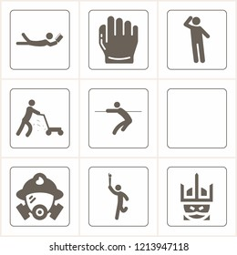 Simple collection of male related filled icons  about  signs for infographic, logo, app development and website design.  premium symbols isolated on a stylish background.