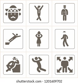 Simple collection of man related filled icons  about  signs for infographic, logo, app development and website design.  premium symbols isolated on a stylish background.