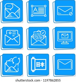 Simple collection of message related outline icons  about  signs for infographic, logo, app development and website design.  premium symbols isolated on a stylish background.
