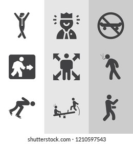 Simple collection of people related filled icons.  about  signs for infographic, logo, app development and website design.  premium symbols isolated on a stylish background.