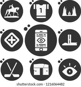 Simple collection of view related filled icons  about  signs for infographic, logo, app development and website design.  premium symbols isolated on a stylish background.