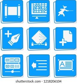 Simple collection of web related filled icons  about data signs for infographic, logo, app development and website design.  premium symbols isolated on a stylish background.