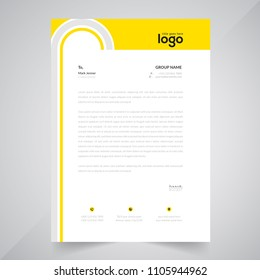 Simple Color Vector Letter Head Template with standard sizes. corporate identity letterhead