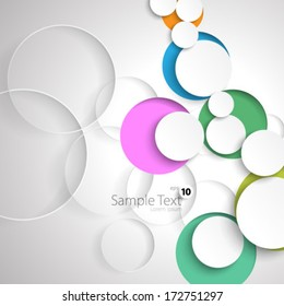 Simple Colorful Circles Design Background