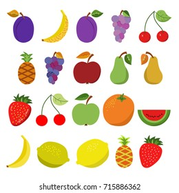 simple colorful illustrations of fruit