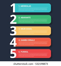 Simple Colorful Infographic banners 5 numbers with icons