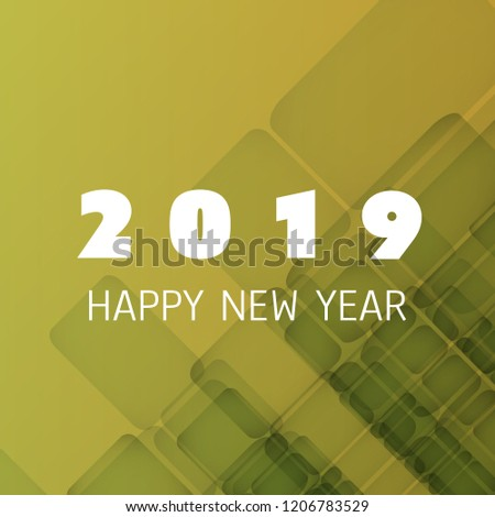 simple colorful new year card cover or background design template 2019
