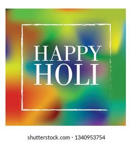 Simple but colourful holi festival wishes - happy holi