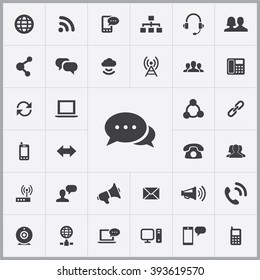 Simple communication icons set. Universal communication icons to use for web and mobile UI, set of basic UI communication elements